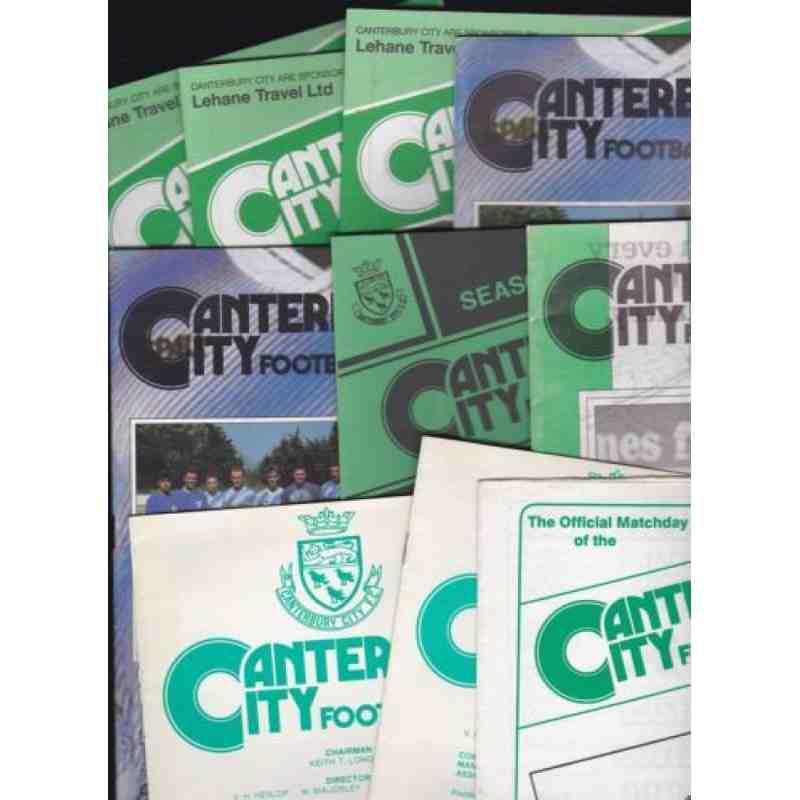 Canterbury City Programmes 1990s