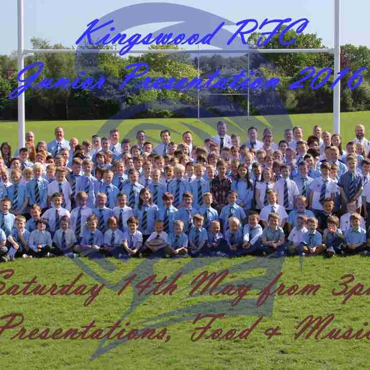 Kingswood RFC Junior Presentation 2016