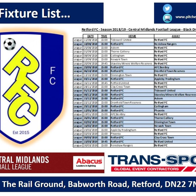 Full League Fixture List...