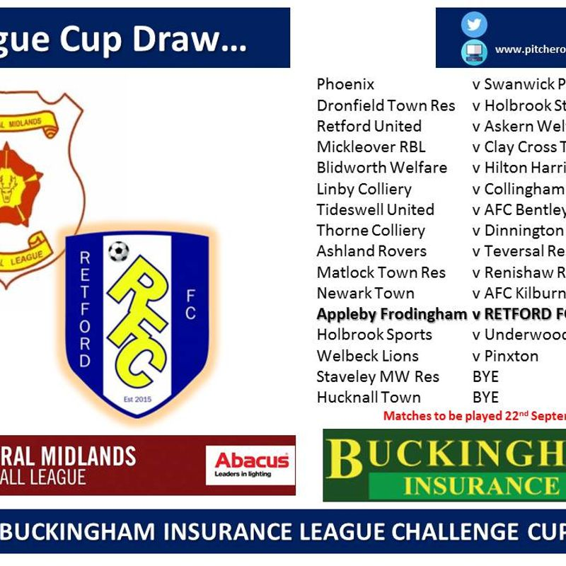 League Cup Draw...