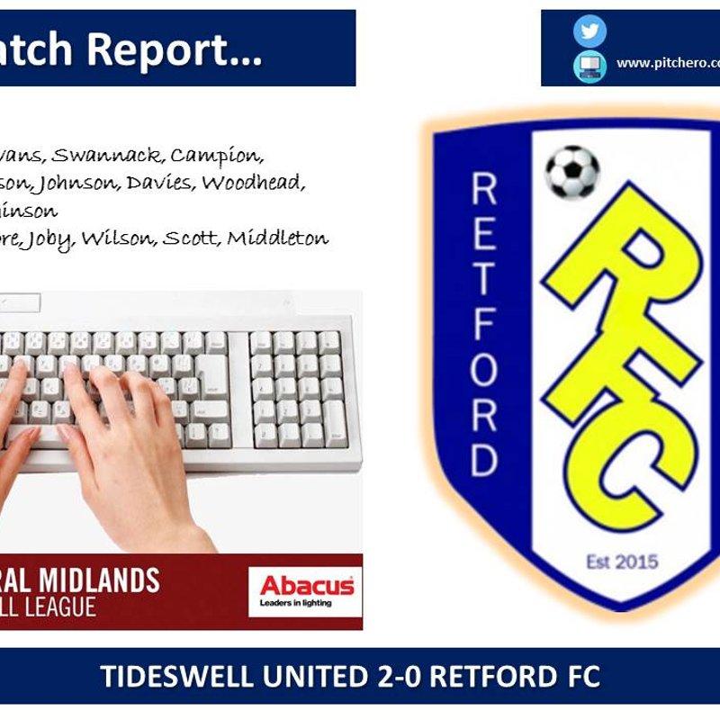 Tideswell United 2-0 Retford FC