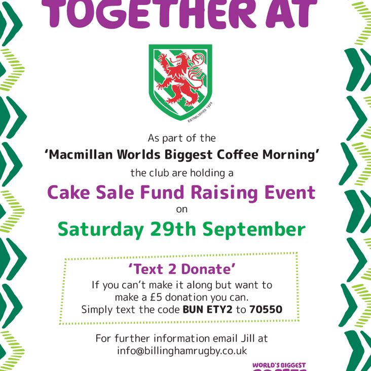Cake Sale Fundraising Event
