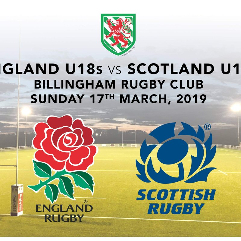 Dont Forget we are Hosting an International Game at Billingham!!! Buy Your Tickets Online!!