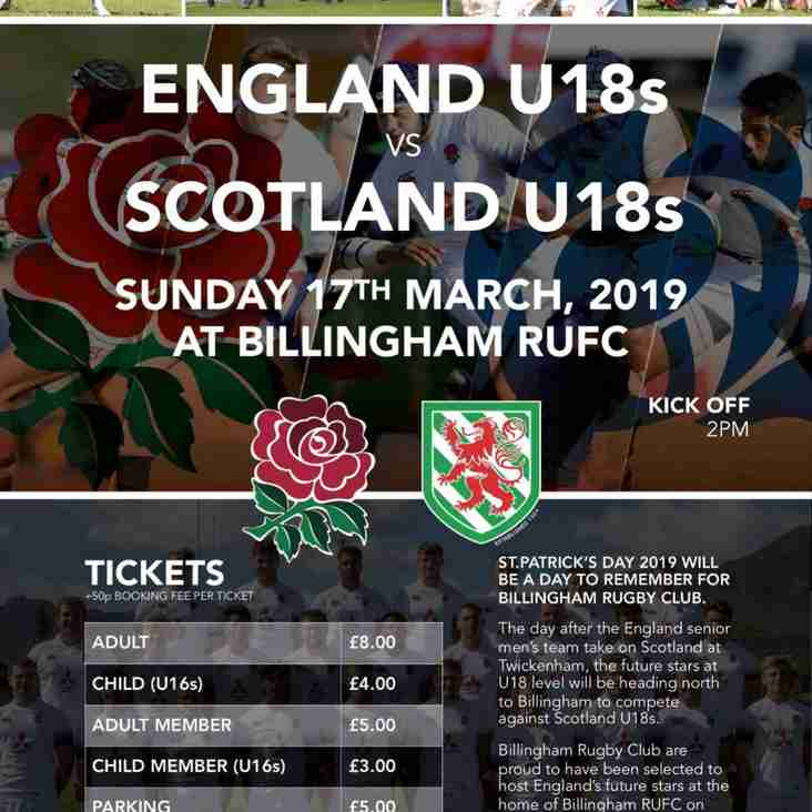 A Month Away from Seeing England Play Scotland at BILLINGHAM!!!