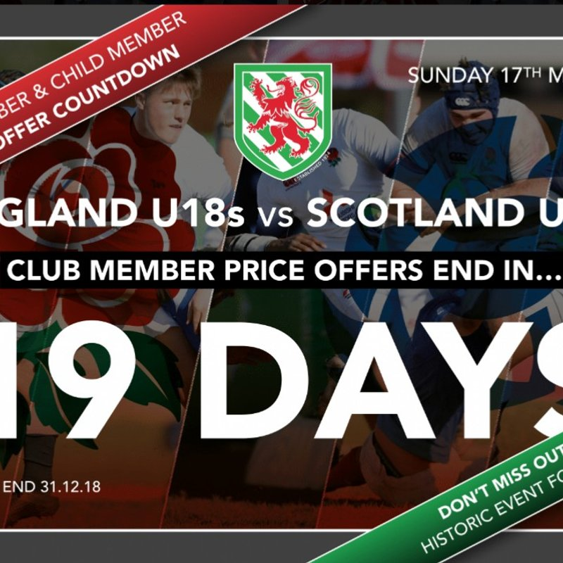 Reminder: 19 days to go until Members Discount Ends!!