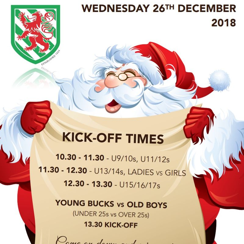 Boxing Day Shenanigans: Times Confirmed. A Day of Fun and Laughter!!