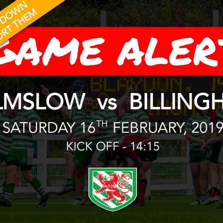 Preview: Wilmslow vs Billingham 16/02/2019