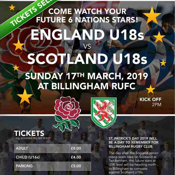 Breaking News!! England u18s Announce Their Team.... Get Your Tickets Now