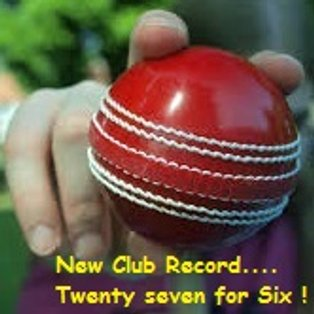 New Club Record by Numan  27 for 6 !!