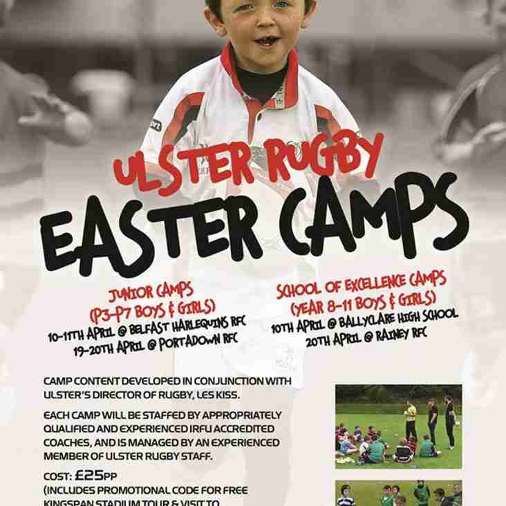 Ulster Rugby Easter Camps 2017