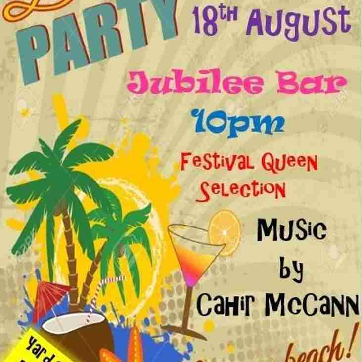 Beach Party on Fri 18th Aug