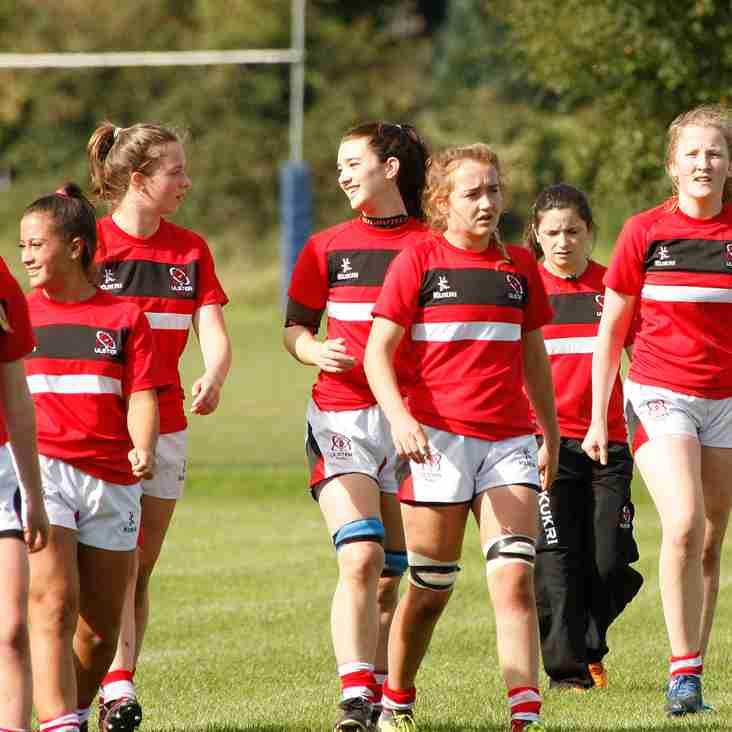 Ulster Ladies U18 Regional Development Training Fri 3rd Nov