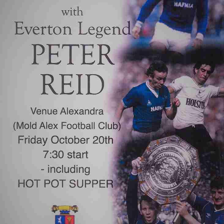 Mold Alex Legends Evening with Everton Legend Peter Reid!