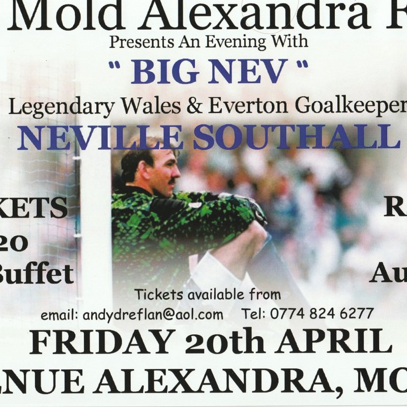 Mold Alex Legends Evening Announced with Neville Southall
