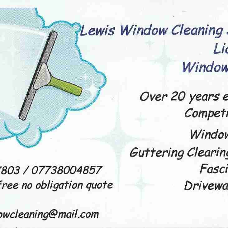 Lewis Window Cleaning Services Sponsors Clash with Lex Glyndwr