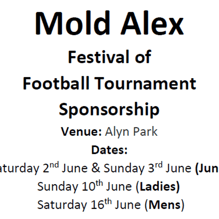 Festival of Football Sponsors required