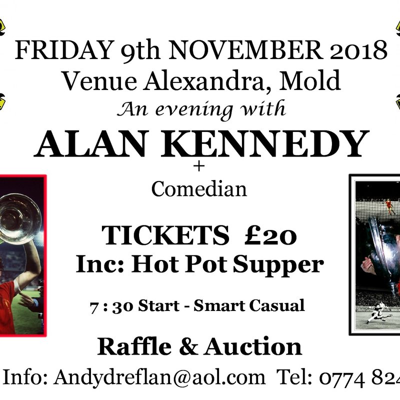 Mold Alex Legends Evening Announced with Alan Kennedy