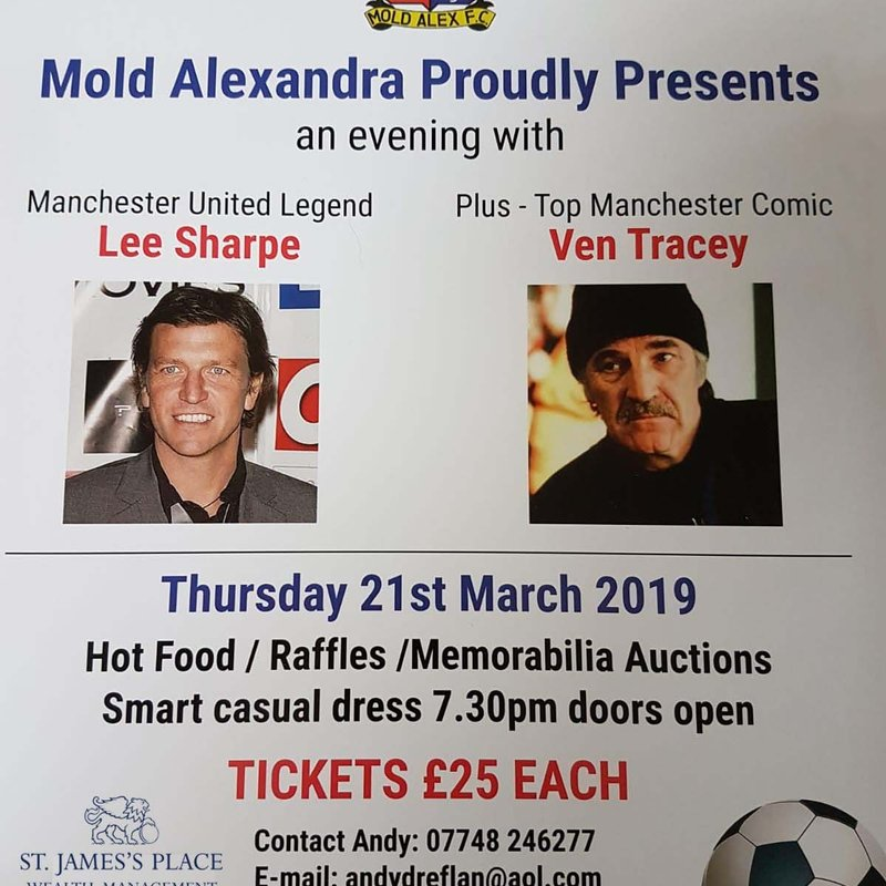 Mold Alex Legends Evening Announced with Lee Sharpe