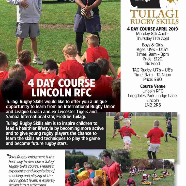 Tuilagi Rugby Skills Easter Holiday Camp.