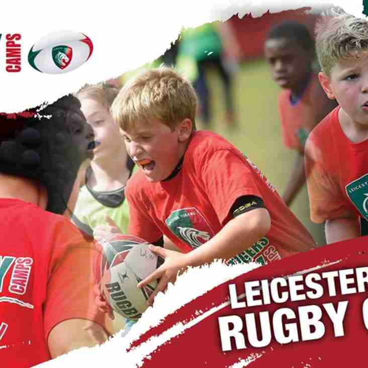 All new Leicester Tigers Rugby camps at Lincoln RFC. 5th - 9th Aug 2019
