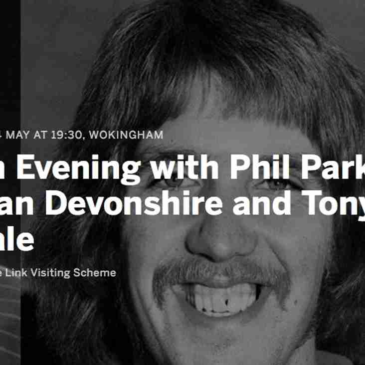 An Evening with Phil Parkes, Alan Devonshire and Tony Gale