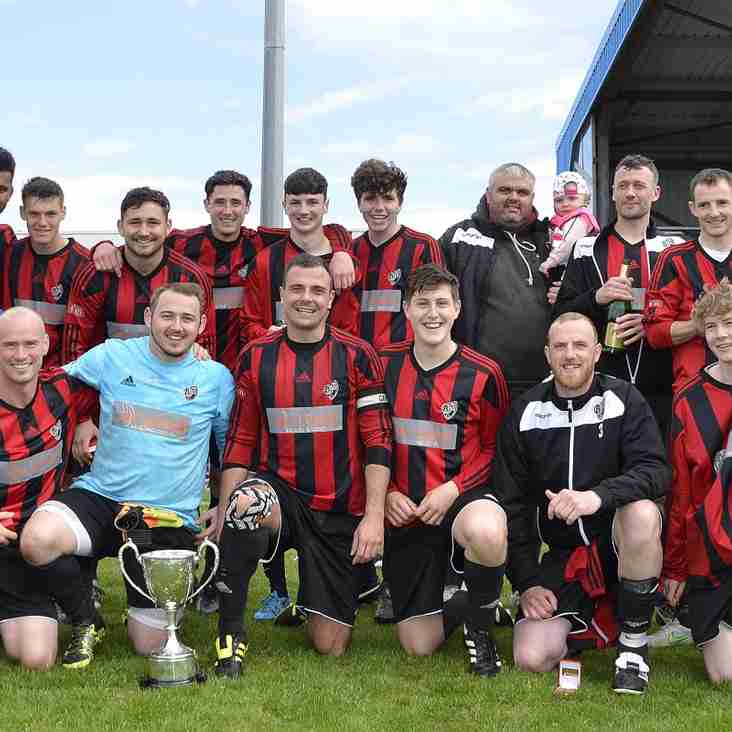 Bro Goronwy FC score twice in the closing ten minutes to beat fellow Gwynedd League side Waunfawr