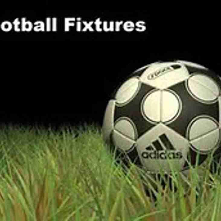 September 2018 Fixtures now on website