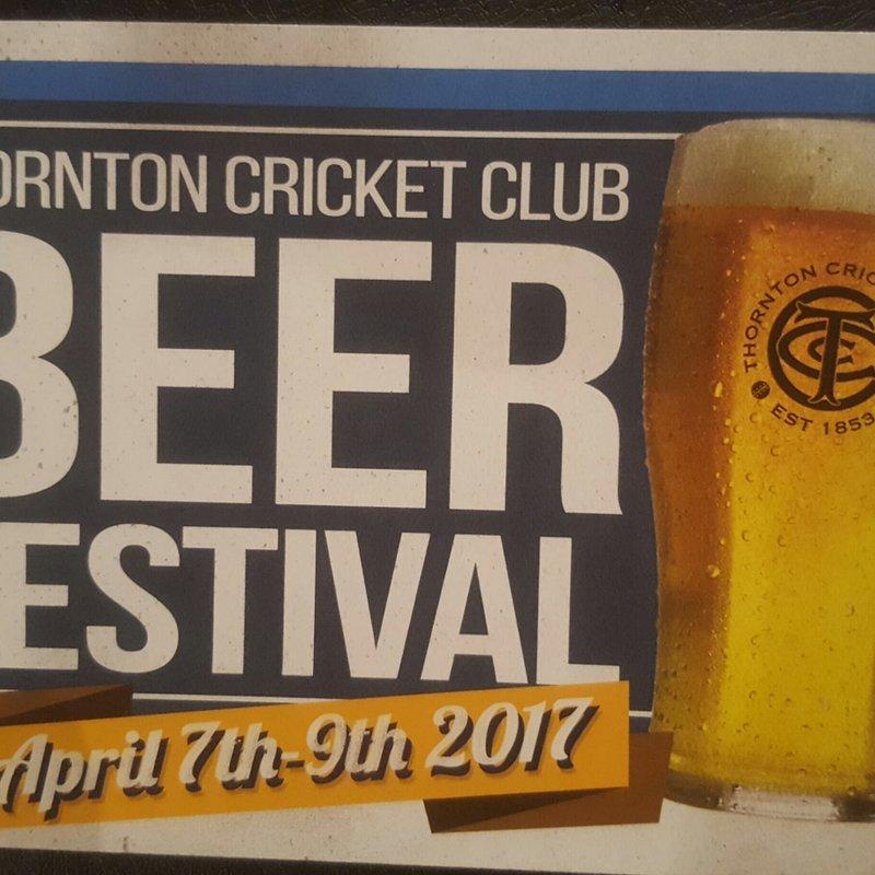 Thornton Cricket Club Beer Festival