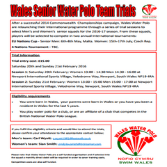 Wales Water Polo Senior Trials