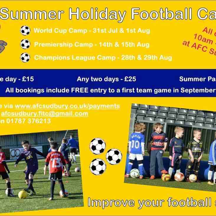Summer Holiday Football Camps