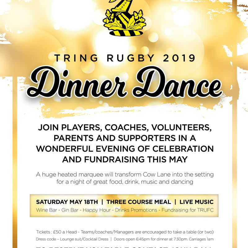 Tring Rugby 2019 Dinner Dance