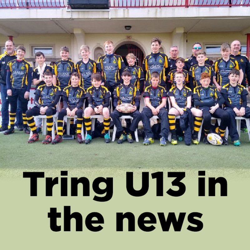 Tring Under 13's in the news