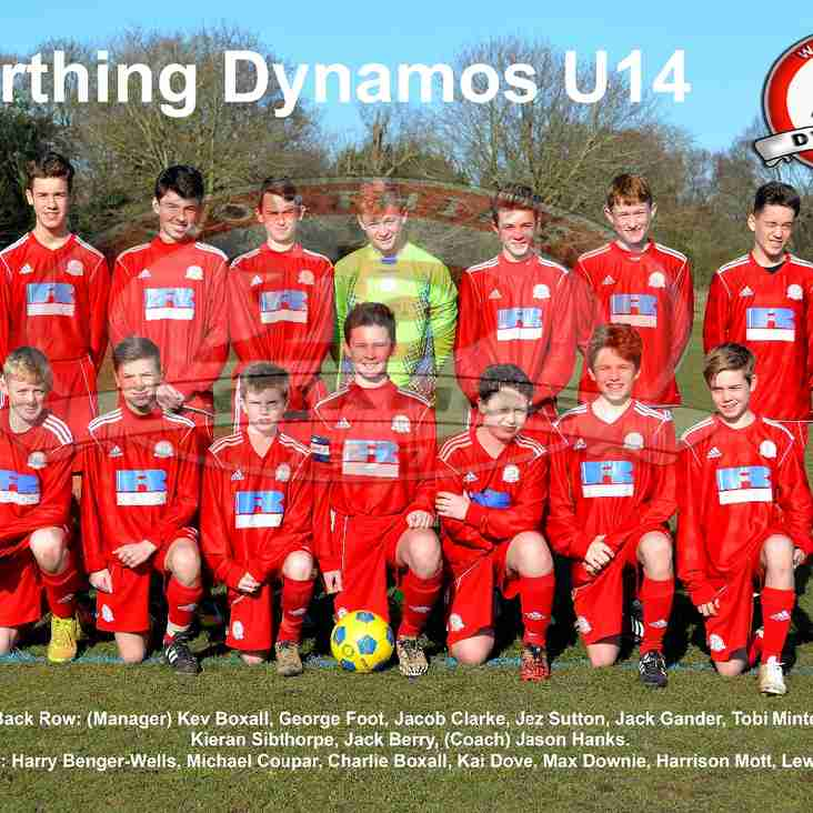 Dynamos U14 - Saywell Challenge Cup Final Date Set.