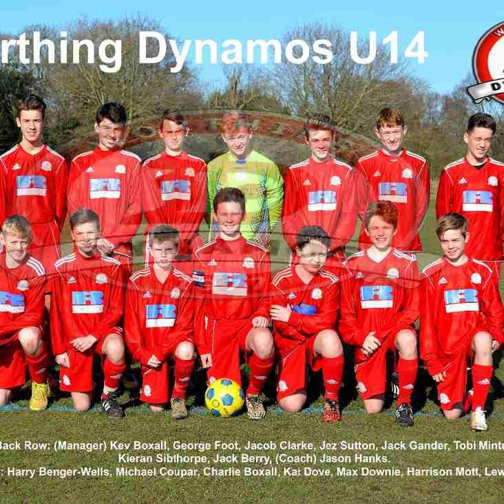 Dynamos U14 - Saywell Challenge Cup Final Date Set.
