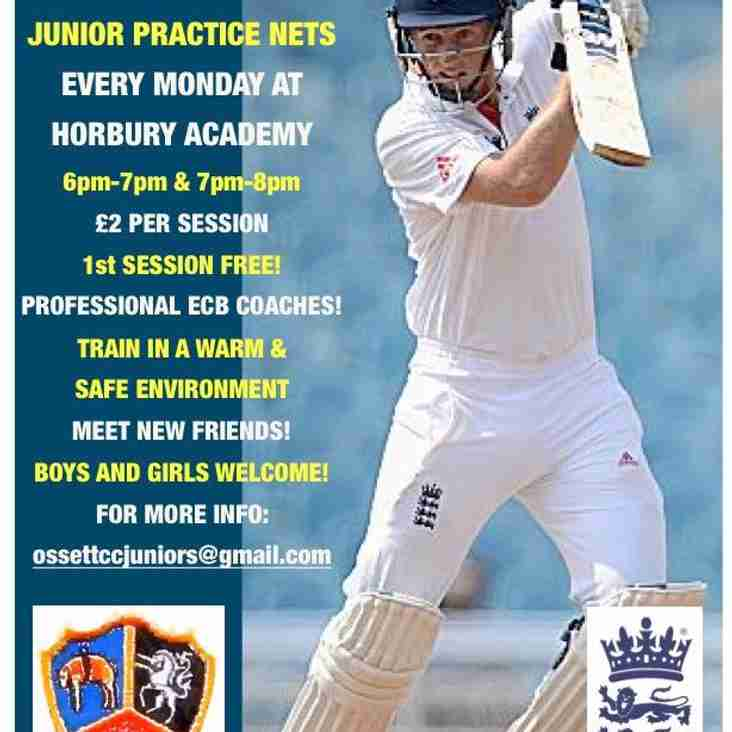 Ossett Cricket Club Junior Practice Nets
