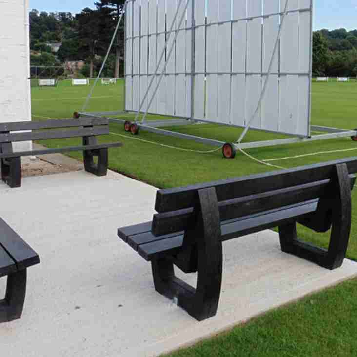 Major Thanks to ECB for Spectator Benches Grant