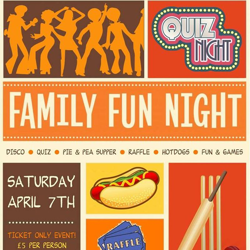 Pre-season Family Fun Night April 7th