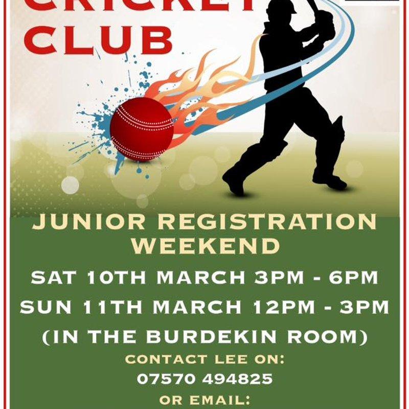 Ossett CC Junior Registration Weekend