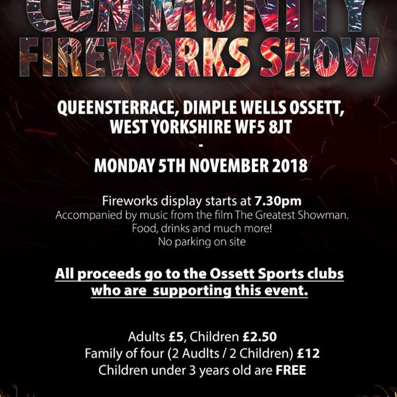 Fireworks Display at Ossett C & AC 5th November