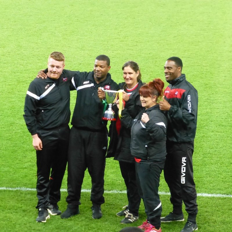 Leicester Nirvana FC Win Cup at the King Power Stadium