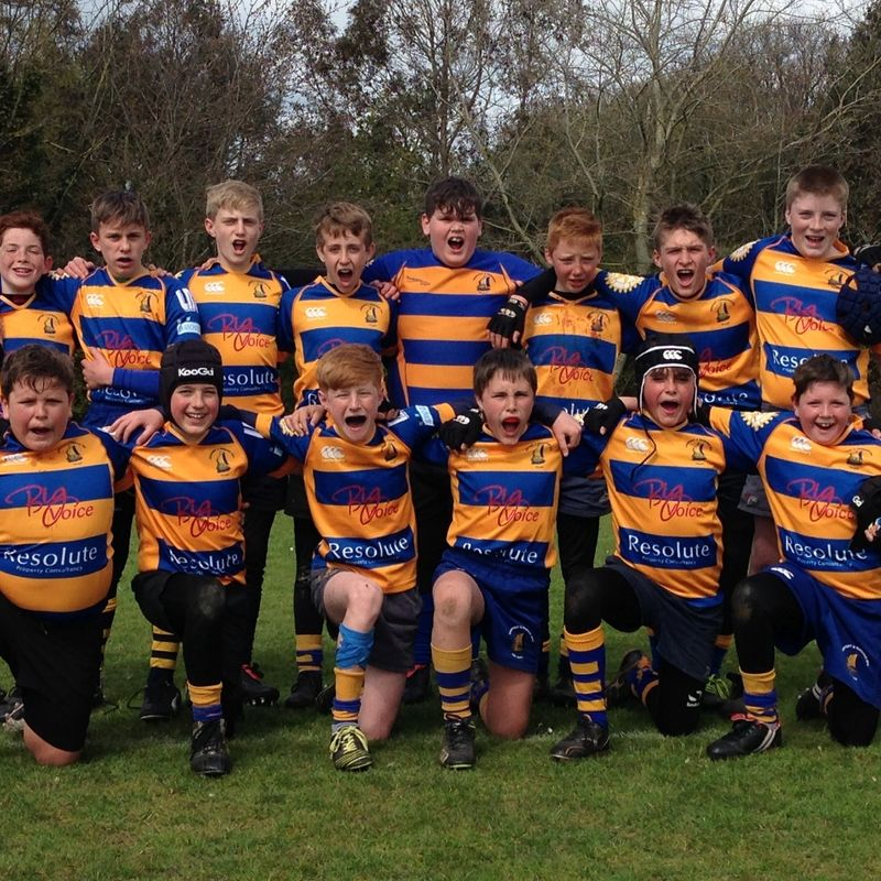 Benjamin Brooker scores for Gosport & Fareham RFC Saxons