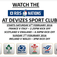 ***Watch the 6 Nations @ Devizes Sports Club***
