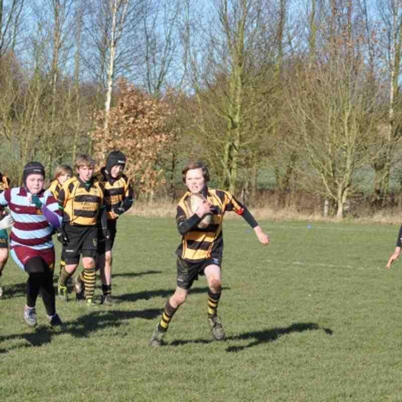 Hinckley RFC Under 11`s Vs Ashby 19th February 2012