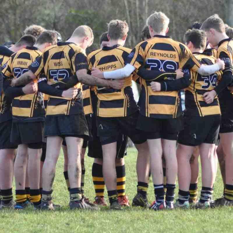Hinckley RFC U14s V Rugby Lions U14s 14th Dec 2014