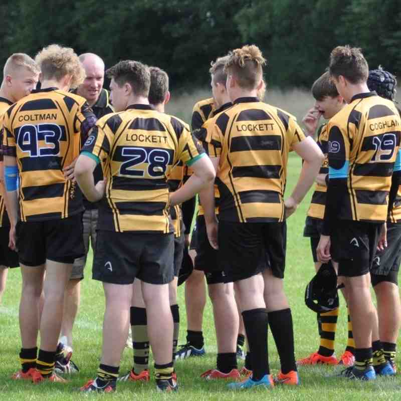Broadstree RFC U15s V Hinckley RFC U15s 13th Sept 2015