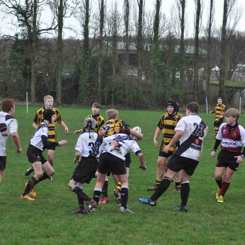 Hinckley RFC U15s V Burton RFC U15s 6th Dec 2015