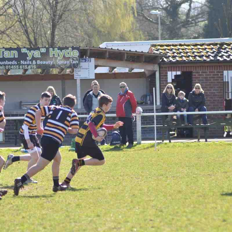 Hinckley RFC U15s V Oadby Wiggs RFC U15s 10th April 2016