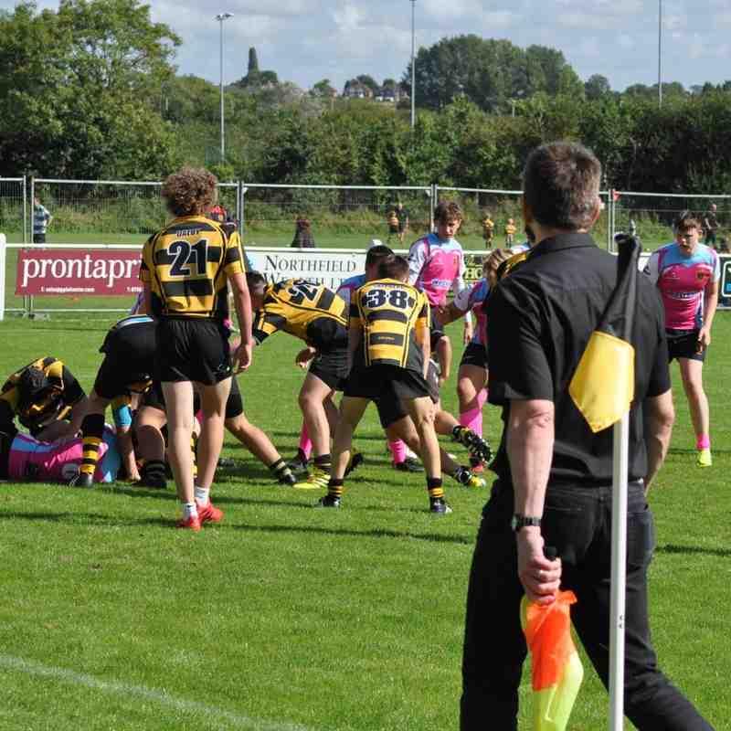 Hinckley RFC U16 v Nottingham Paviors U16s Sunday 11th Spetember 2016