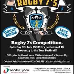 7s Tournament Saturday 6th July