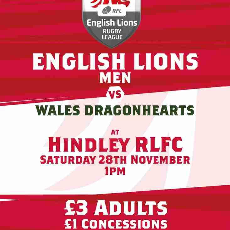 Hindley Host International Match this Saturday
